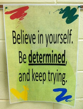 Determined poster