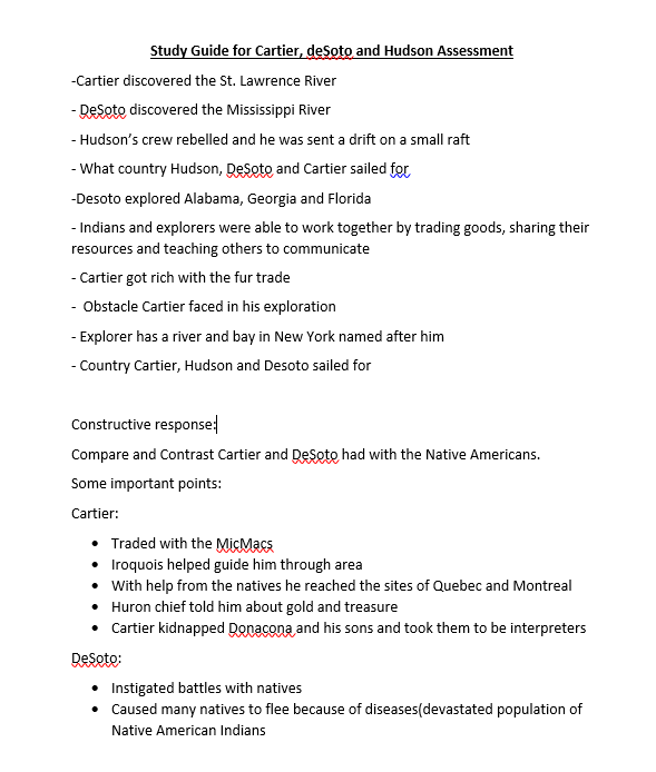 SS study guide