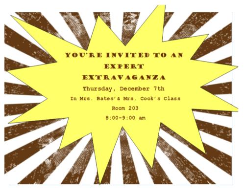 Expert Extravaganza Invite