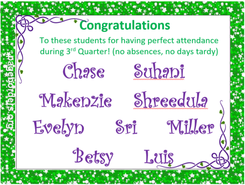 Perfect Attendance 3